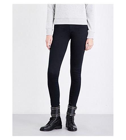 DIESEL Slandy skinny mid-rise jeans (01+black