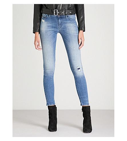 DIESEL Slandy super slim-fit skinny mid-rise jeans (01+blue+denim