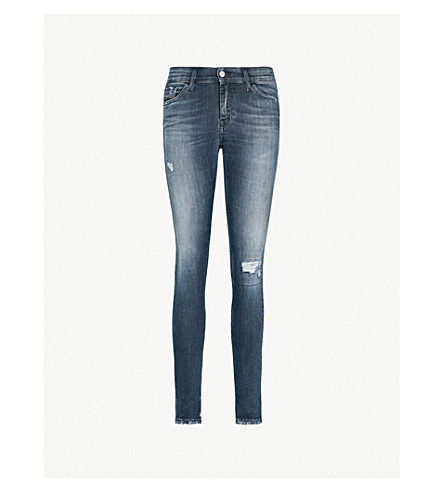 DIESEL Slandy 084MU super-slim-fit skinny and distressed denim jeans (Blue