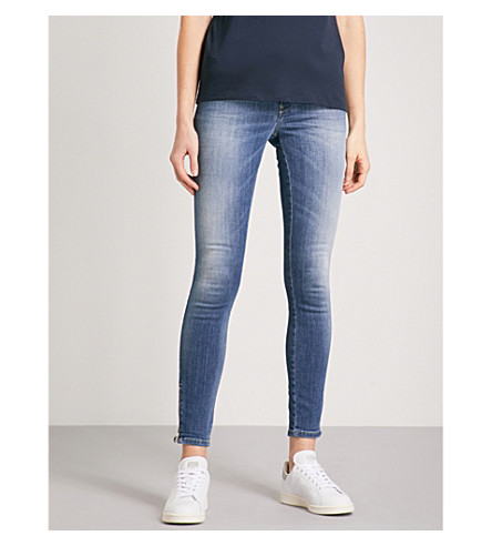DIESEL Skinzee faded ultra-skinny high-rise jeans (01+blue