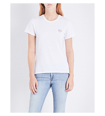 DIESEL T-Sully-Bi cotton-jersey T-shirt (100+white