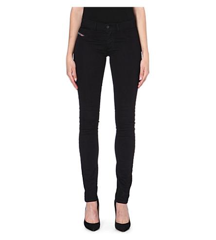 DIESEL Livier skinny mid-rise jeans (Black