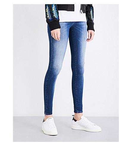 DIESEL Slandy skinny mid-rise jeans (01+blue