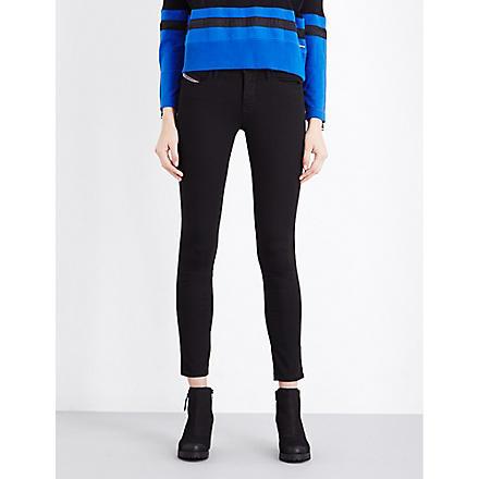 DIESEL Skinzee skinny mid-rise jeans (Black