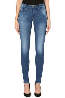 DIESEL Skinzee skinny mid-rise faded jeans