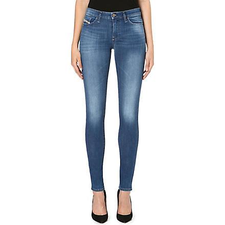 DIESEL Skinzee skinny mid-rise faded jeans (Indigo