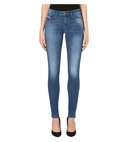 DIESEL Skinzee skinny mid-rise faded jeans (Indigo