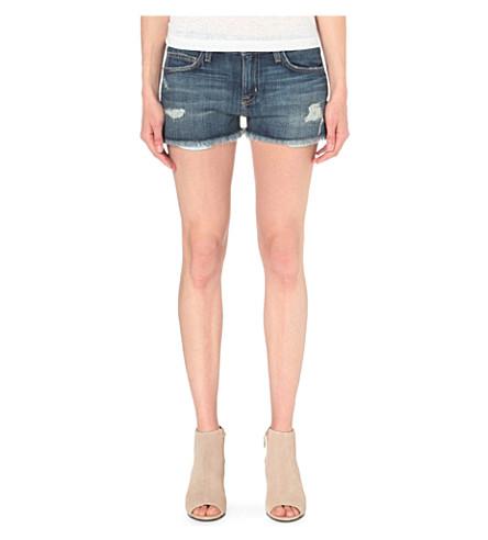 CURRENT/ELLIOTT The Boyfriend mid-rise denim shorts (Loved destroy