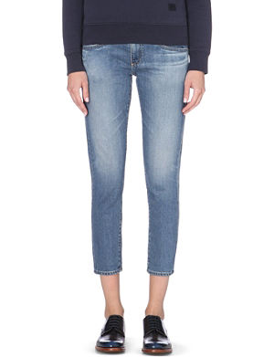 AG The Nikki cropped relaxed skinny mid-rise jeans