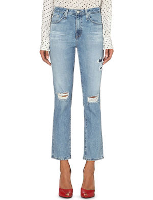 ALEXA CHUNG FOR AG Sabine straight mid-rise jeans