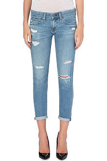 AG The Nikki cropped skinny low-rise jeans