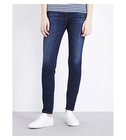 AG The Prima skinny mid-rise jeans (Crater
