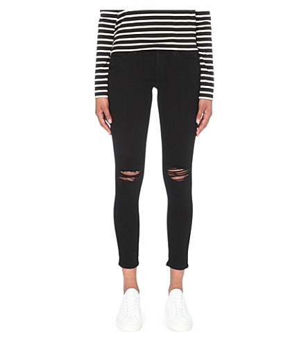 AG The Legging super-skinny mid-rise jeans (1+year+black+pond