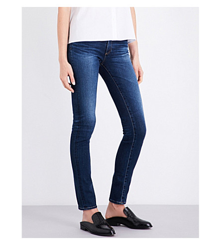 AG The Prima distressed skinny mid-rise jeans (4+years+rapids