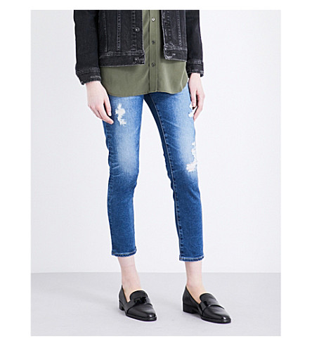 AG The Prima skinny mid-rise jeans (14+years+radiant+blue