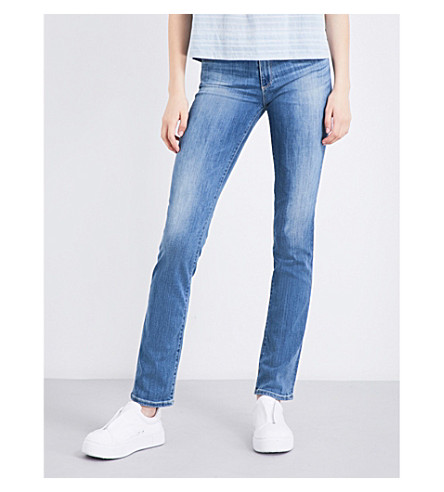 AG The Harper straight mid-rise jeans (Talent