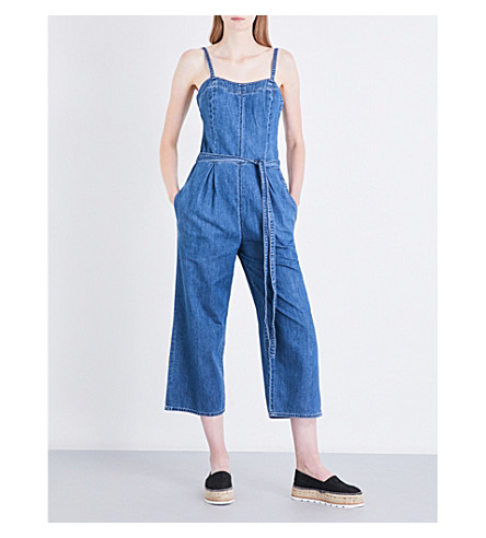 AG The Giselle wide-leg denim jumpsuiy (Atlas+blue