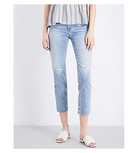AG The Isabelle straight high-rise jeans (20+years+rogue