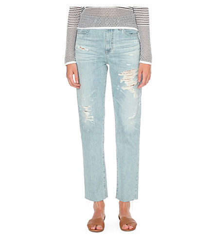 AG Phoebe tapered high-rise jeans (24+years+blazing+sun