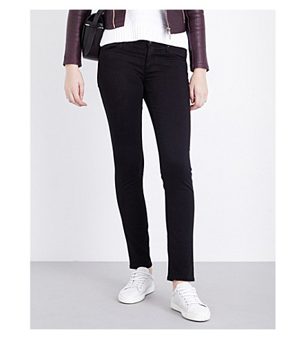 AG The Stilt skinny mid-rise jeans (Super+black