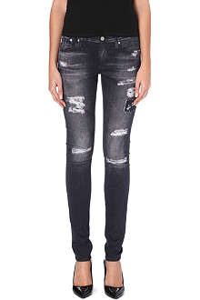 AG Digital distressed skinny jeans