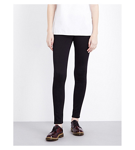 AG The Legging super-skinny mid-rise jeans (Super+black