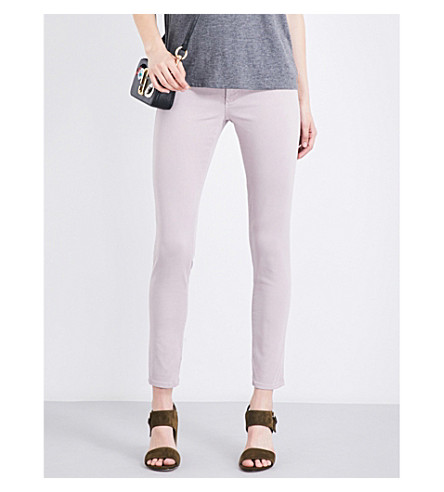 AG The Legging Ankle coated super-skinny mid-rise jeans (Sulfur purple noon