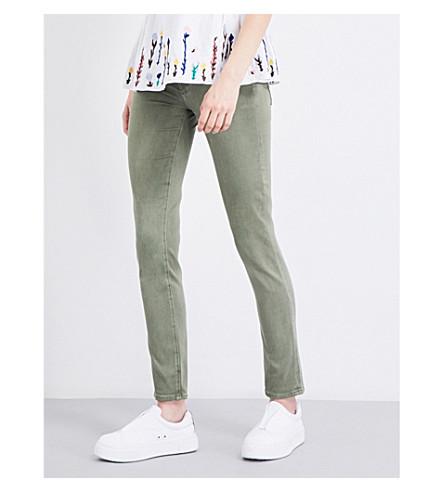 AG The Prima skinny mid-rise jeans (Sulfur+harvest+olive