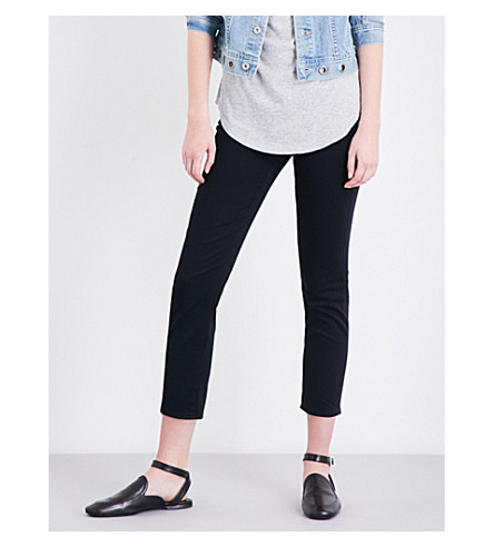 AG The Prima Crop skinny mid-rise jeans (Black+tide