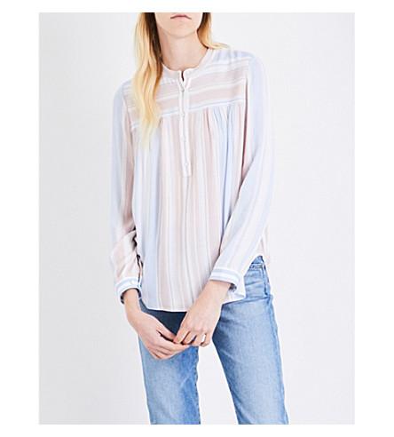 AG Jess striped blouse (Pale+terracotta+multi