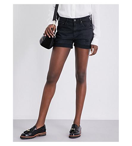 AG The Hailey stretch-denim shorts (Sulfur+black+terrain