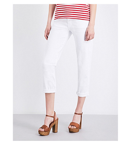 AG The Ex-Boyfriend cropped mid-rise jeans (01+year+white
