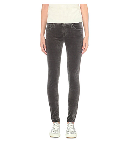 AG The Velvet Legging super-skinny mid-rise jeans (Asteroid+grey