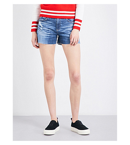 AG The Hailey boyfriend-fit mid-rise denim shorts (15+years+boundless