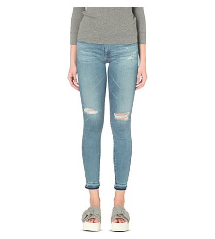 AG The Legging Ankle super-skinny low-rise jeans (18 years sunbeam flame