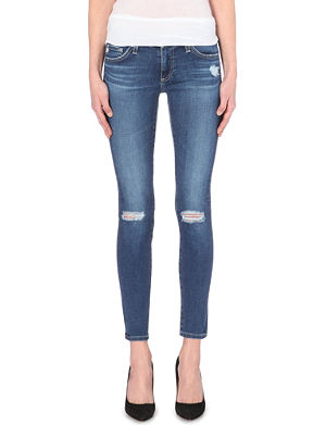ALEXA CHUNG FOR AG Alexa Chung for AG distressed skinny mid-ride jeans