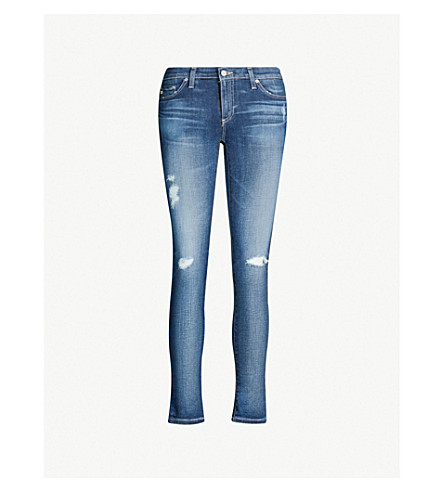 AG Skinny mid-rise cropped jeans (11+years+swapmeet