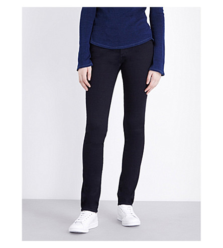 AG The Harper skinny straight mid-rise jeans (Obu