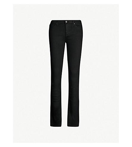 AG The Harper skinny straight mid-rise jeans (Overdye+black