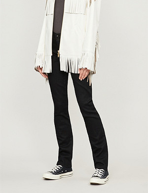 AG Harper mid-rise slim-straight jeans