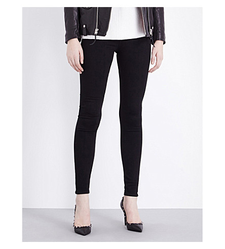 AG The Farrah skinny high-rise jeans (Super+black