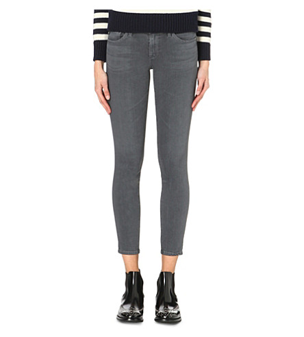 AG The Legging Ankle super-skinny mid-rise jeans (Greyhound