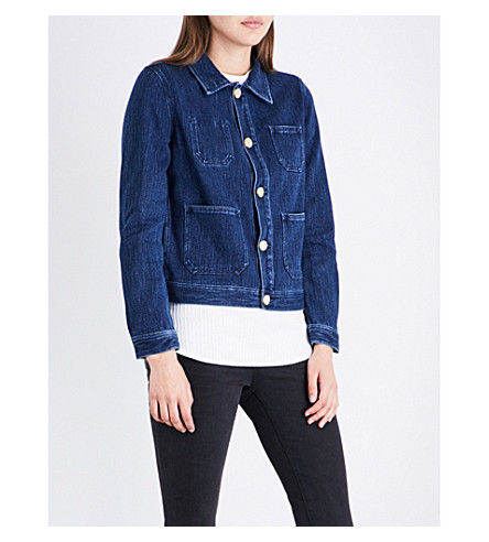 AG The Ruth denim jacket (Anchor+blue