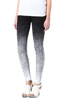 MOTHER The Looker speckled skinny mid-rise jeans