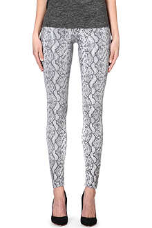 MOTHER The Looker skinny mid-rise snake-effect jeans