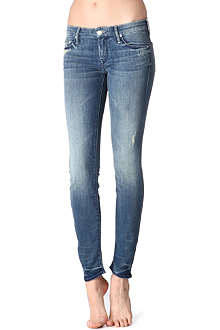MOTHER Graffiti Girl skinny low-rise jeans