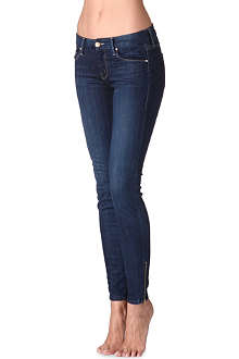 MOTHER The Looker ankle-zip mid-rise jeans