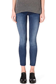 MOTHER The Looker frayed-hem skinny mid-rise jeans