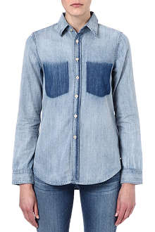 MOTHER Foxy denim shirt