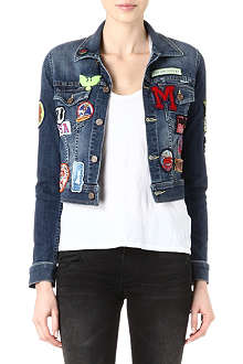 MOTHER Shorty patchwork denim jacket